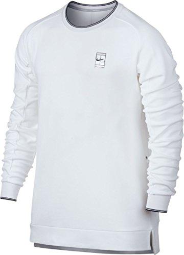 Nike M Nkct LS Bl Pq Camiseta de Manga Larga de Tenis, Hombre, Blanco (White/Black), XL