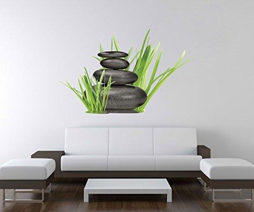 3D Wandtattoo Wellness Zen Steine Bambus Spa Wand Aufkleber Deko Wandbild Wandsticker A3D96, Motiv Breite:60cm