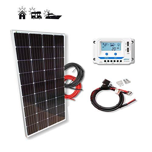 Kit 175W PRO 12V panel solar placa monocristalina ideal para autocaravanas furgonetas