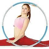 PerlaShopping - Aro de gimnasia para reducción de peso mejorado, con espuma, ajustable y optimizado para fitness, aprox. 1 kg