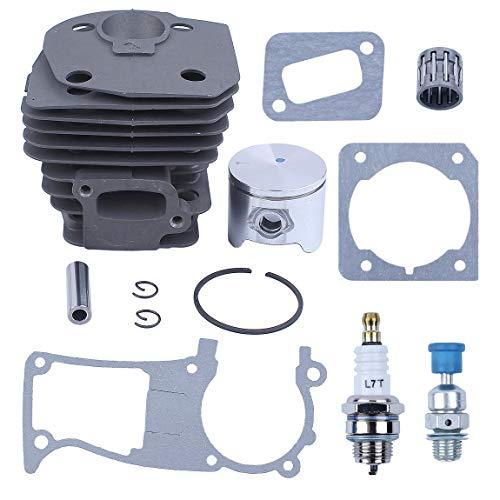 Haishine 44MM Cilindro Pistón Junta Válvula de liberación de compresión Kit para Husqvarna 350 346 351 353 Piezas del Motor de la Motosierra