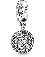 Pandora Moments Harmonious Hearts damski koralik Charms 925 srebro wysokiej próby 25 25 mm