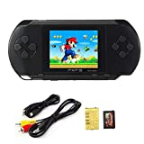 EDTO Handheld Game Console for Kids,16 Bit Portable Classic Game Console LCD Game Player, Support TV HD Play, Rechargeable Handheld Game Console Retro Mini Game Player