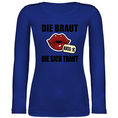 Shirtracer JGA Junggesellenabschied Frauen - Die Braut, die Sich traut - JGA - XS - Blau - 32 -...