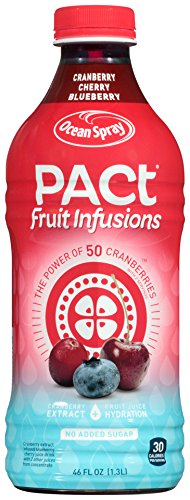 Ocean Spray Pact Fruit Infusions Cranberry Cherry Blueberry Juice, 46 oz