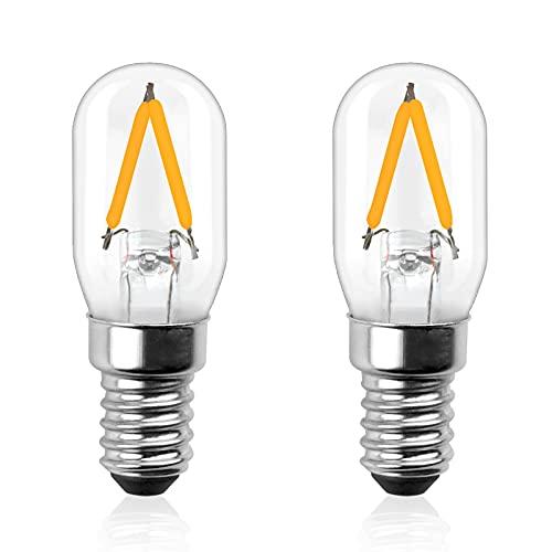 Bonlux 2W E14 T22 Ampoule LED AC/DC 12-24V blanc chaud 2700K e14 mini tubumaire t22 led basse tension 12V équivaut à 20W ampoule halogène pour camping-car, bateau, jardin, port de garage, etc(2pcs)