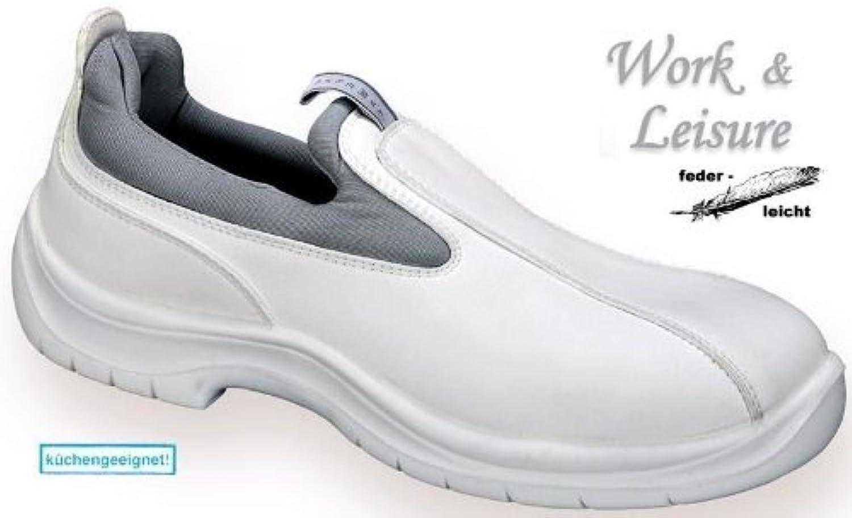 W&L Sicherheitsschuhe Malibu Gr.46 L314 - S1 - Slipper weiß-grau    Zuverlässige Leistung