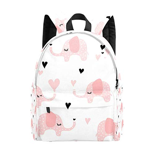 Backpack Boy Girl Daypack,Elephants Pink Kids Backpack School Bookbag Travel Bag Casual Rucksack Gift