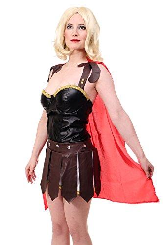 DRESS ME UP - Kostüm Damenkostüm Amazone Gladiatorin Rom Antike Kriegerin Sparta L077 Gr. 40