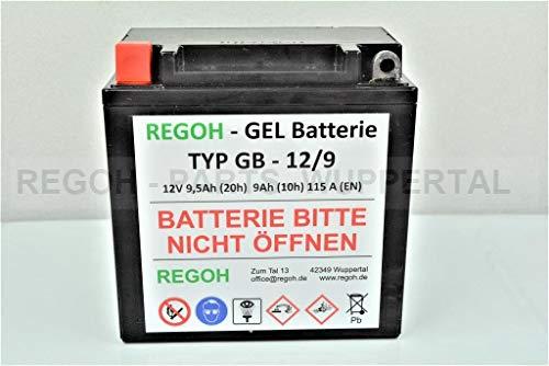 REGOH Gel Batterie Baugleich 12V 7-9Ah Schneefräse 5-7 PS