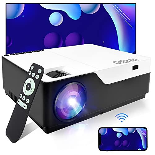 Beamer WiFi Native 1080P 8000 Lumen Support 4K Full HD kabellos Bildschirm Teilen, Gobran Wlan Projektor Heimkino Professionelles, Support HDMI/USB/TV Stick, Xbox/Laptop/iOS/Android Smartphone