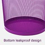 Zhanyi Büro Mülleimer Büro Mülleimer ohne Papier 篓 NET Runde Papierkorb lila Wohnzimmer Mülleimer Küchenbüro (größe : Medium Purple) - 4