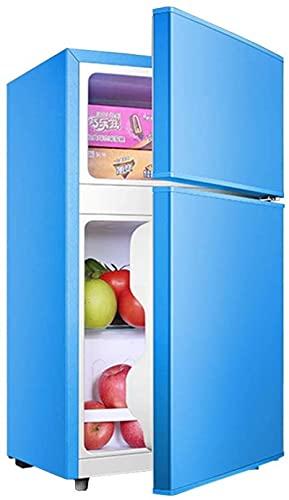 showyow Congelador Independiente de 58L con compresor Refrigerador de Doble Puerta Control de Temperatura Mini con Caja de enfriamiento Bajo Consumo de energía Bajo Ruido 76cm