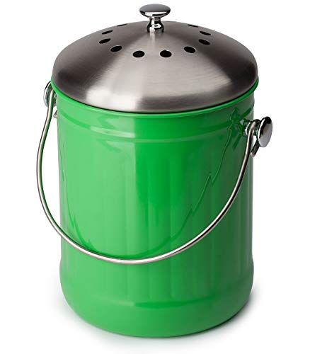 Cheapest Prices! GREEN COMPOST BIN - Premier Quality, Eco Green Composting, Kitchen Countertop Compo...