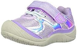 in budget affordable OshKosh B'Gosh Baby Girl Elate Bump Toe Sneakers, Lavender, 11 Little Child