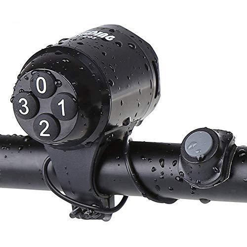 Qyoung Elektronische, Wasserdichte Laute Fahrradhupen, Fahrradlenker-Alarmlautsprecher, kompatibel mit Allen Fahrrädern, Sicherheits-Überwachungsring-Glocke, Batterie inklusive, Schwarz