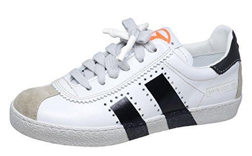 Momino 3446V Sneakers Turnschuhe Unisex - Kinder, Weiß-Schwarz (51374), EU 38