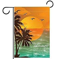 庭の旗芝生の装飾庭の装飾屋外の農家の装飾ホオジロ旗サマービーチの夕日両面バナー