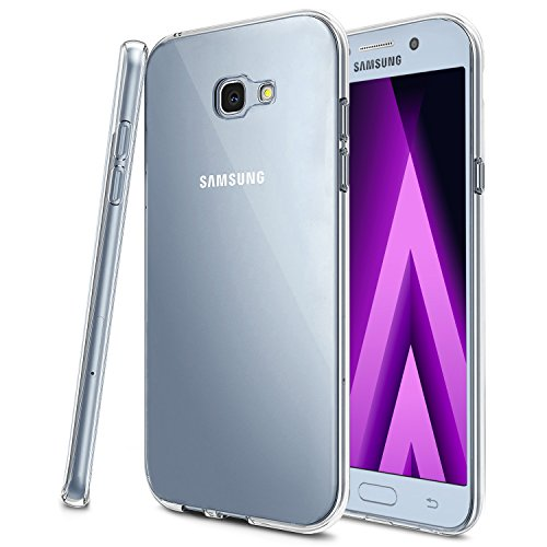 Produktbild Samsung Galaxy A5 (2017) Hülle,  KKtick Transparente Kratzfeste Schutzhülle Crystal Clear Bumper Premium TPU Silikon Durchsichtige Handyhülle für Samsung Galaxy A5 (2017) 5.2 Zoll Case Cover