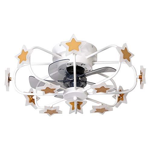 Fan Mod, 8 cabezas 50W Chandelier Control remoto Ventilador de luz Ventilador de techo Luz, con altavoz Bluetooth, ventiladores de techo de 4 paletas