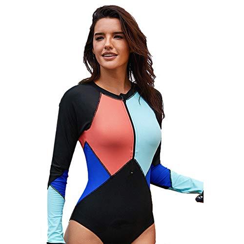 WARM home Creatieve Lange mouwen wetsuit, contrast kleur zonnebrandcrème UV bescherming sport duiken huid pak, dames en jeugd twee stukken