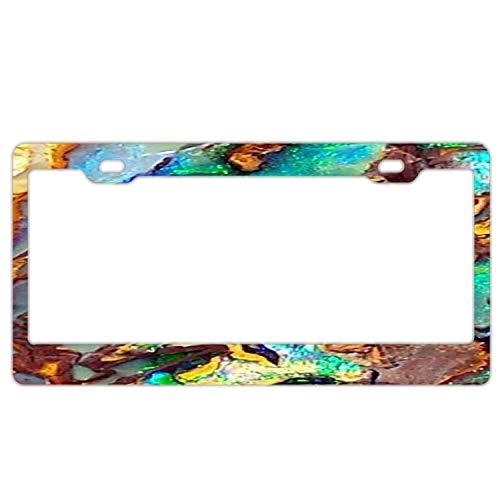 Wind gt Aluminum License Plate Frame, Black Licenses Plates Frames, Car Licenses Plate Covers Holders for US Vehicles Yowah Opal