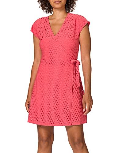 Vero Moda VMLEAH 2/4 Short Dress Jrs GA Vestito Casual, Spiced Coral, M Donna
