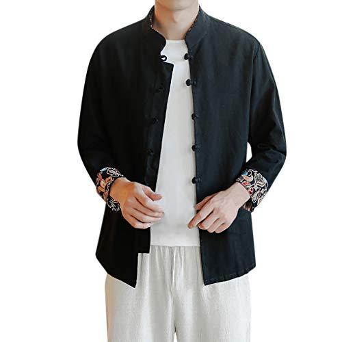 FRAUIT Camicia Uomo Coreana Lino Camicia Uomini Taglie Forti Camicie Ragazzo Maniche Lunghe Vintage Plus Size Oversize Magliette Manica Lunga Elegante T Shirt Strane Estive Maglie Canottiera