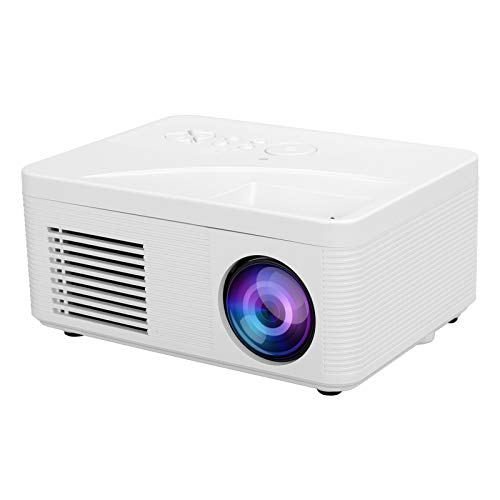 Sanpyl Mini Projector, Portable Home Theater HD 1080P Wall Projection Video USB HDMI AV 2.0inch LCD TFT Projector Video Movie Projector Best (White US)