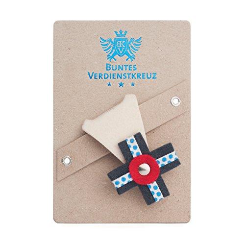 vonbox Buntes Verdienstkreuz Natur/graublau