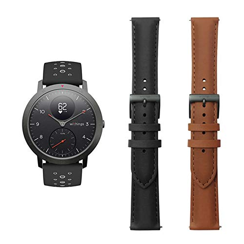 Withings Steel HR Sport Smartwatch (40mm) - Activity Tracker, Heart Rate Monitor, Sleep Monitor, GPS, Water...