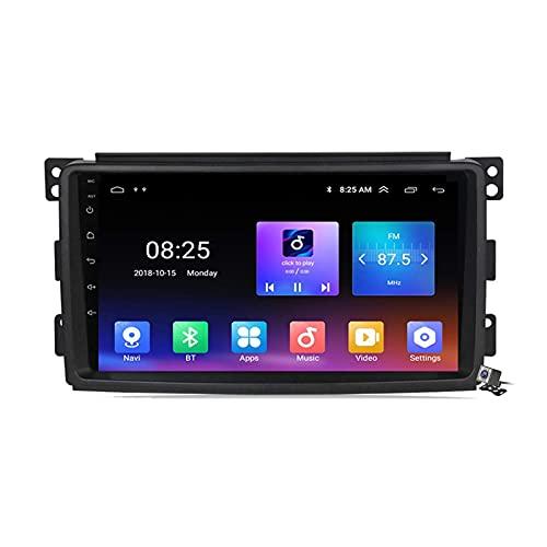 GTFHUH Android 10 Radio para automóvil para Mercedes Benz Smart 2005-2010 Navegación GPS estéreo para automóvil Pantalla táctil de 9 Pulgadas Soporte 5G WiFi Bluetooth Control del Volante/FM RDS DSP