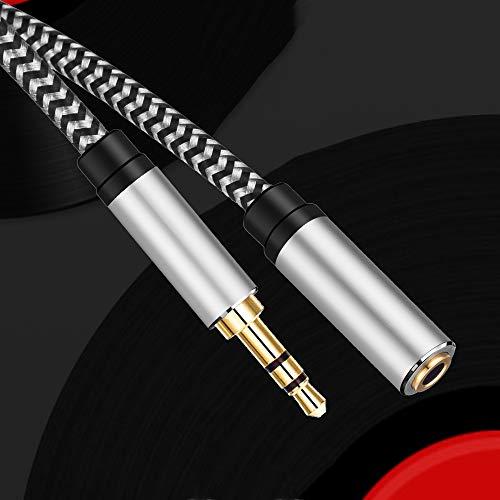 Morelecs Aux Extension Cable 40ft 3.5mm Extension Headphone Extension Cable Male to Female Audio Extension Cable Nylon Braided Aux Cable Extension Compatible Phones, Headphones,Speakers, PC