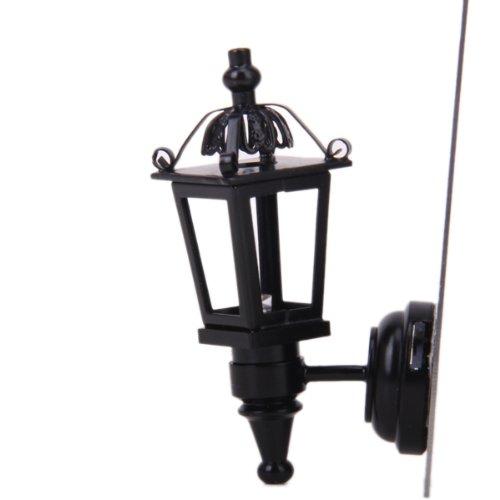 Applique Lampe Murale LED Miniature pour 1/12 Maison de Poupée - Noir