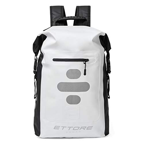 Ettore Cycling Rucksack 100% Waterproof Dry Bag 30L - Black/White - Sonar