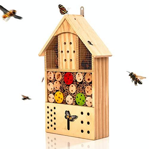 bambuswald© Insektenhotel 43,5 x 24 x 9 cm | Bienenhotel Unterschlupf für Insekten - Insektenhaus Naturmaterialien. Gelebter Natur- & Artenschutzfür Zuhause -NistkastenHausNützlingshotel Schutz