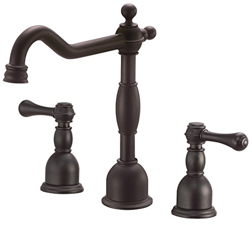 Product Image of the Danze D304157BS Opulence Two Handle Widespread Lavatory Faucet, Satin Black