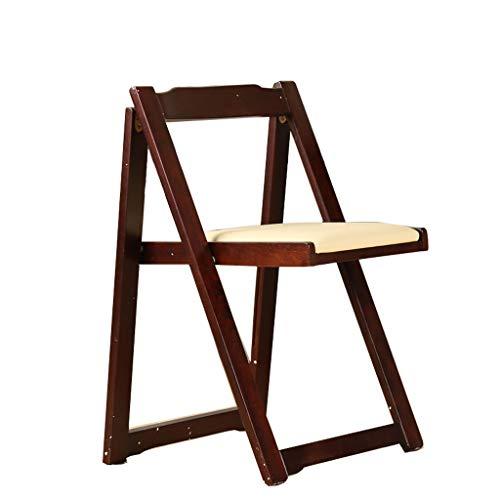 WXL Silla de Oficina Silla Plegable de Madera para sillas de Comedor Silla de Oficina, Silla de Escritorio (Blanco) Silla de Escritorio (Color : B)