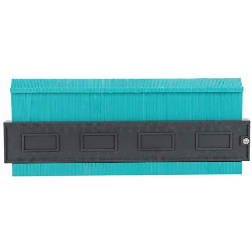 Herramienta de plantilla de contorno, 1 pieza fácil de usar con duplicador de contorno de bloqueo, alta resistencia (verde grande de 10 pulgadas)