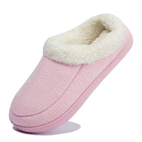 [Ranberone] ルームシューズ メンズ スリッパ 冬 暖かい 滑り止め 軽量 大きいサイズ ボア付き クロッグ 洗える フワフワ 防寒 消音タイプ 室内/室外履き