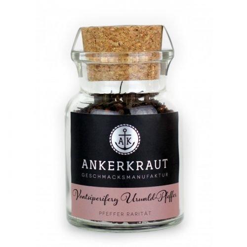 Ankerkraut Voatsiperifery Urwald Pfeffer, ganze Körner, Premium-Pfeffer, 60g im Korkenglas
