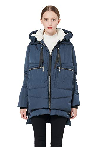 Orolay Women's Thickened Down Jacket (M, Navy)