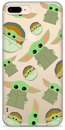Ert group swpcbyoda1852 custodia per cellulare star wars baby yoda 006 iPhone 7 plus/ 8 plus, multicolore