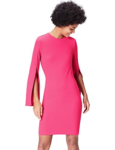 Amazon-Marke: find. Damen Kleid 16816a, Rosa (Cabaret Pink), 38, Label: M