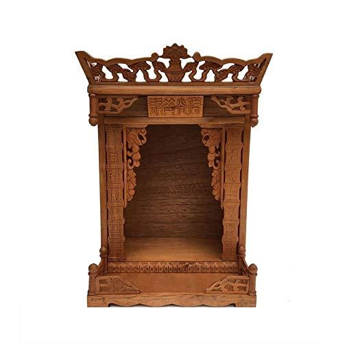 """DYYD 20.5"""" Massivholz-Buddha-Altar Fortune-Kabinett Buddha-Nischen for Tisch Buddhisten Supplies-Rack/Item Speicherschrank, for Platz Ihrer Spiritual Dekoration Meditation"""