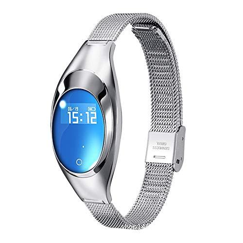 Elegant polshorloge voor dames, armband met chip, monitor, met gezondheidsmonitor, stappenteller voor sportarmband, waterdicht, met mooie verpakking, compatibel met Android en iOS