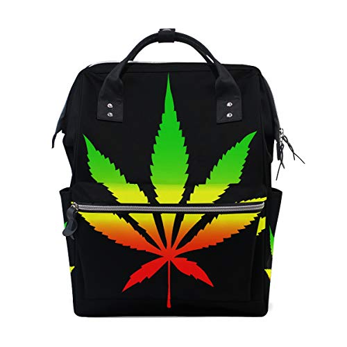 Cool Green Cannabis Leaf Icon Große Kapazität Windel Taschen Mummy Rucksack Multi Funktionen Wickeltasche Tasche Handtasche Für Kinder Babypflege Reise Täglichen Frauen