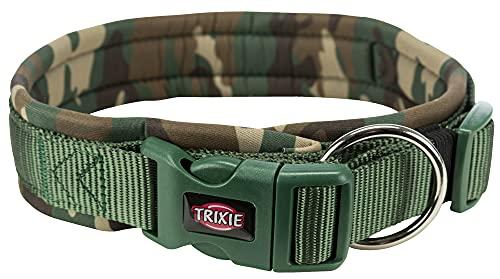 TRIXIE Premium L Camouflage-Halsband für Hunde, verstellbar, 49 – 55 cm, Dicke 25 mm, 1988523