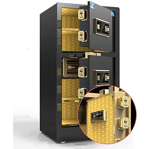Safes Electronic Home Safe mit mittlerem Bürofingerabdruck Safe Home Smart Diebstahlschutz Büroschrank Schranksafes LQ&XL/Black