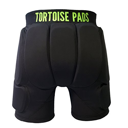 Tortoise Pads T2 - Seven Pad Impact Protection System - Padded Shorts with Tailbone, Glute, Hip and Side Leg Pads (Kids' Small)